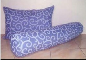 Bantal Silikon Abstrak Biru