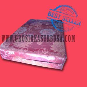 Kasur Busa Lipat 2 Cover Kain Spring Bed Ukuran 140x180x10 Merah