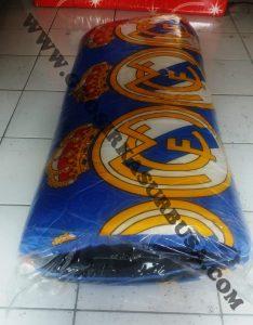 Kasur Busa Quilting Ukuran 100x180x4 Motif Real Madrid