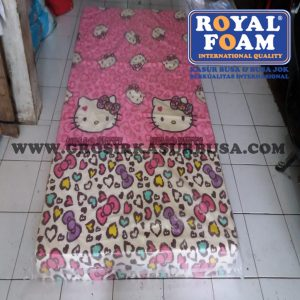 Kasur Busa Royal Ukuran 120x200x14 Motif Hello Kitty Pink