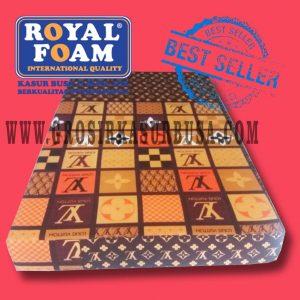 Kasur Busa Royal Ukuran 120x200x14 Motif LV Coklat