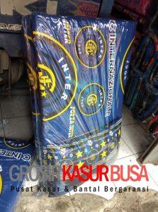 Kasur Busa Lipat Bantal Ukuran 90x180x4 Motif Inter Milan