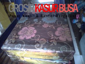 Kasur Busa Lipat 2 Cover Kain Spring Bed Ukuran 140x180x10 Coklat