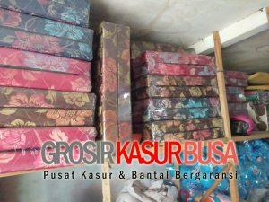 Kasur Busa Lipat 2 Cover Kain Spring Bed Ukuran 90x180x10 Coklat
