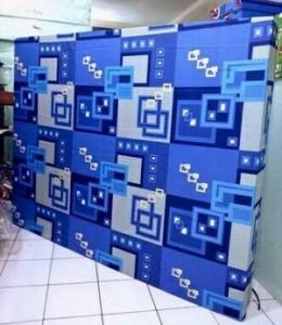 Kasur Busa Super Abstrak Kotak Biru