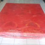 Kasur Busa Super Abstrak Merah