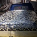 Kasur Busa Super 140 Motif Abstrak Tralis