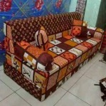 Kasur Sofa Bed Busa Super Motif Abstrak LV 140