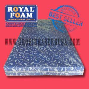 Kasur Busa Royal Ukuran 120x200x14 Motif Tralis Biru