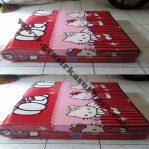 Kasur Busa Lipat Jumbo Ukuran 120x180x8 Motif Hello Kitty