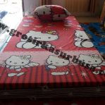 Kasur Busa Royal Ukuran 90x200x14 Motif Hello Kitty Merah