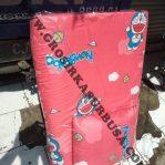 Kasur Busa Lipat Bantal Ukuran 90x180x4 Motif Doraemon Merah