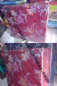 Kasur Busa Lipat 2 Cover Kain Spring Bed Ukuran 90x180x10 Merah