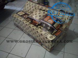 Sofa Bed Busa Biasa Ukuran 120x180x10 Motif LV