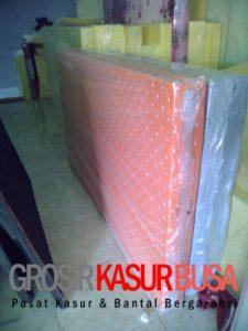 Kasur Busa Royal Ukuran 120x200x20 Motif Polkadot Orange