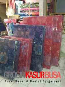 Kasur Busa Lipat 2 Cover Kain Spring Bed Ukuran 140x180x10