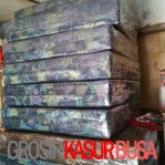 Kasur Busa Lipat 2 Cover Kain Spring Bed Ukuran 90x180x10 Warna Biru