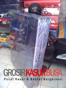 Kasur Busa Lipat 2 Cover Kain Spring Bed Ukuran 90x180x10 Biru