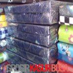 Kasur Busa Lipat 2 Cover Kain Spring Bed Ukuran 120x180x10 Biru