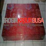 Kasur Busa Lipat 2 Cover Kain Spring Bed Ukuran 140x180x10 Warna Merah