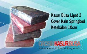 Kasur Busa Lipat 2 Cover Kain Spring Bed Ukuran 90x180x10 Warna Pilihan