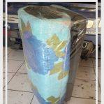 Kasur Busa Quilting Ukuran 100x180x4 Motif Bunga Biru