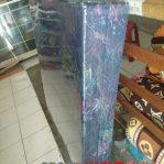 Kasur Busa Lipat 2 Cover Kain Spring Bed Ukuran 140x180x10 Warna Biru