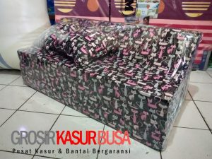 Sofa Bed Busa Biasa Ukuran 120x180x10 Motif Kucing