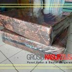 Kasur Busa Lipat 2 Cover Kain Spring Bed Ukuran 140x180x10 Warna Coklat