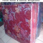 Kasur Busa Lipat 2 Cover Kain Spring Bed Ukuran 90x180x10 Warna Merah