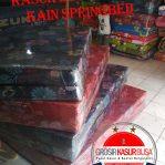 Kasur Busa Lipat 2 Cover Kain Spring bed Warna Merah Ukuran 140x180x10