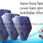 Kasur Busa Lipat 2 Tebal 10cm Ukuran 90x180x10 Kain Spring Bed Warna Biru