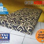 Kasur Busa Royal Foam Ukuran 160x200x14 Motif Tralis Hitam (Bergaransi)