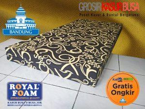 Kasur Busa Royal Foam Ukuran 120x200x14 Motif Tralis Hitam (Bergaransi)