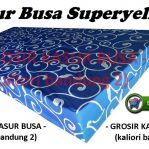 Kasur Busa Superyellow Motif Tralis Biru Ukuran 180x200x14 Bergaransi