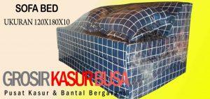 Sofa Bed Busa Biasa Ukuran 120x180x10 Motif Kotak2 Biru