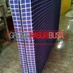 Kasur Busa Superyellow Tebal 20cm Ukuran 100x200x20 Motif Kotak Biru