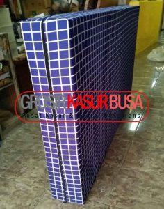 Kasur Busa Superyellow Tebal 20cm Ukuran 90x200x20 Motif Kotak Biru